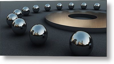 Around Circles Metal Print by Richard Rizzo