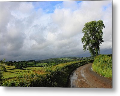 Around The Bend Metal Print by Theresa Selley