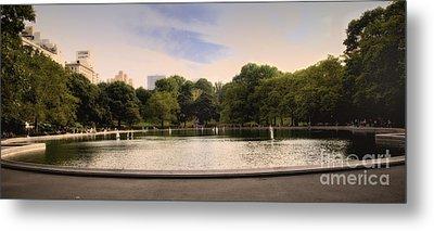 Around The Central Park Pond Metal Print by Madeline Ellis