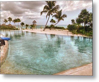Around The Pool-waiting For The Storm Metal Print by Eti Reid