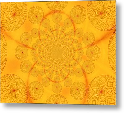 Around The Sun-abstract Circles Metal Print by Tom Druin
