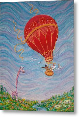 Metal Print featuring the painting Around The World by Dee Davis