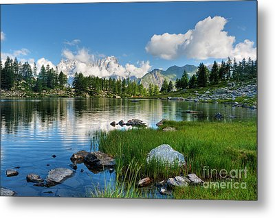 Arpy Lake - Aosta Valley Metal Print by Antonio Scarpi
