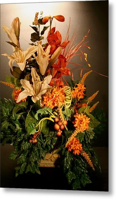 Arrangement Of Flowers Metal Print by Diane Merkle