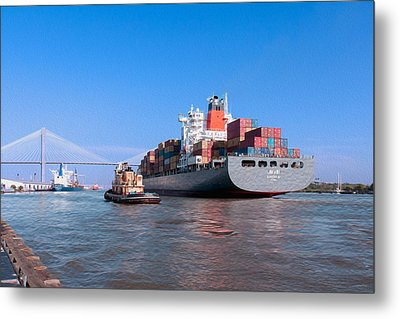 Arrival At Savannah Metal Print