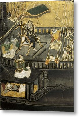 Arrival Of The Portuguese To Japan Metal Print by Everett