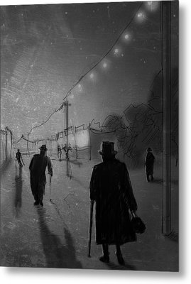 Arrivals Metal Print by H James Hoff