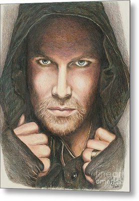 Arrow / Stephen Amell Muted Metal Print