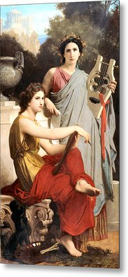 Art And Literature Metal Print by William Bouguereau