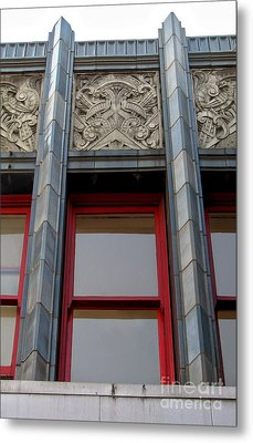 Art Deco Architectural Detail Metal Print by Gregory Dyer