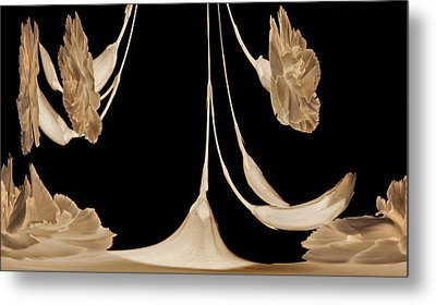 Art Deco Carnations Metal Print by Terence Davis
