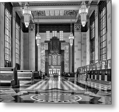 Art Deco Great Hall #1 - Bw Metal Print by Nikolyn McDonald