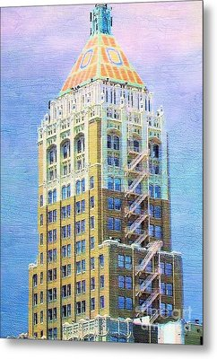 Art Deco Lives At Philtower Metal Print by Janette Boyd