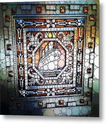 Art Deco Percolated Metal Print by Natasha Marco