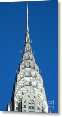 Art Deco Skyscraper - The Chrysler Building Metal Print by Emmy Vickers