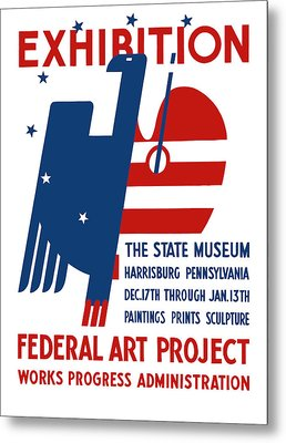 Art Exhibition The State Museum Harrisburg Pennsylvania Metal Print by War Is Hell Store