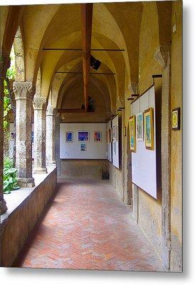 Art Gallery In A Monastery Metal Print by David Nichols