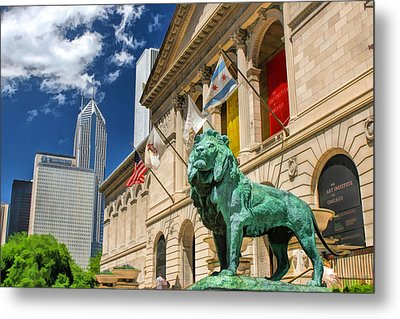 Art Institute In Chicago Metal Print by Christopher Arndt