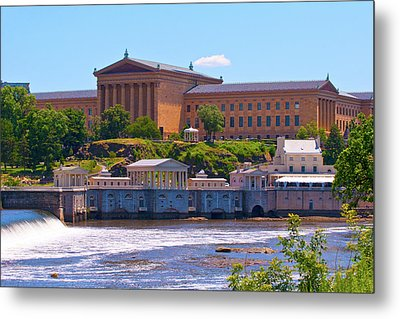 Art Museum And Fairmount Waterworks - Hdr Metal Print by Lou Ford