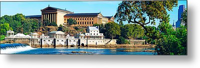 Art Museum At The Waterfront Metal Print by Panoramic Images