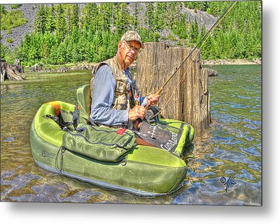 Art Of Fly Fishing Metal Print