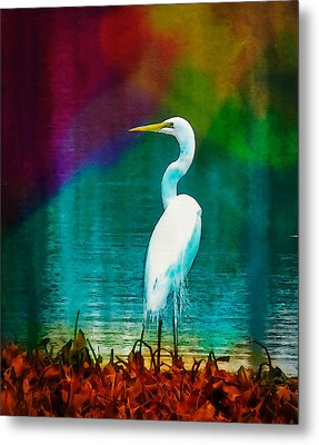 Art Of The Egret Metal Print