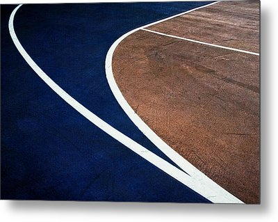 Art On The Basketball Court  11 Metal Print by Gary Slawsky