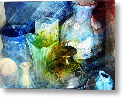 Art Pottery Still Life In Light And Color Metal Print by John Fish