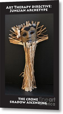 Art Therapy Directive Archetype Mask Metal Print by Anne Cameron Cutri