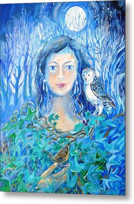 Artemis And The Wren- Metal Print by Trudi Doyle