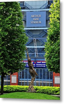 Arthur Ashe Stadium Metal Print by Mike Martin