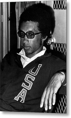 Arthur Ashe With Sunglasses Metal Print