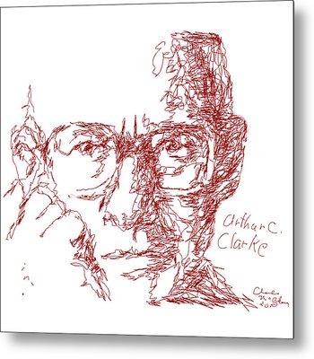 Arthur C. Clark Metal Print