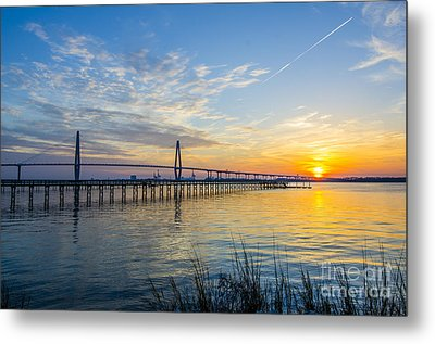 Metal Print featuring the photograph Calm Waters Over Charleston Sc by Dale Powell