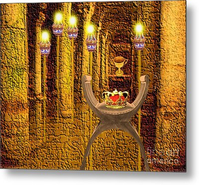 Artifacts From Castle Metal Print by Belinda Threeths