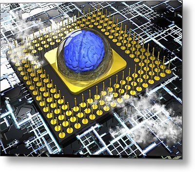 Artificial Intelligence, Conceptual Metal Print by Science Photo Library