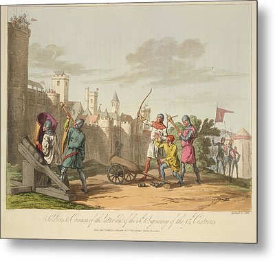 Artillery And Archers Metal Print by British Library
