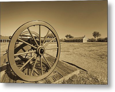 Artillery At Fort Larned National Metal Print by Panoramic Images