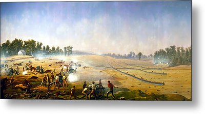 Artillery Hell At Antietam Metal Print by Mountain Dreams