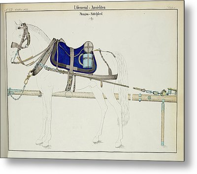 Artillery Horse Furniture Metal Print by British Library