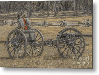 Artillery To The Front Metal Print by Randy Steele
