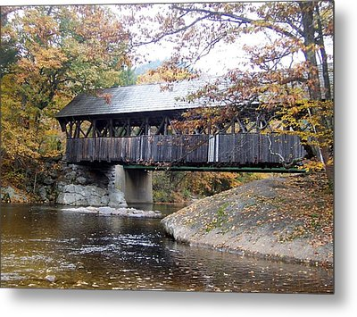 Artist Covered Bridge Metal Print by Catherine Gagne