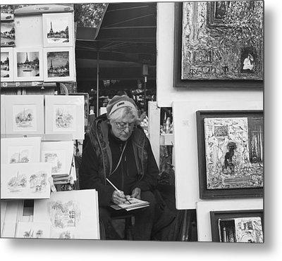 Artist Montmartre Metal Print by Hugh Smith