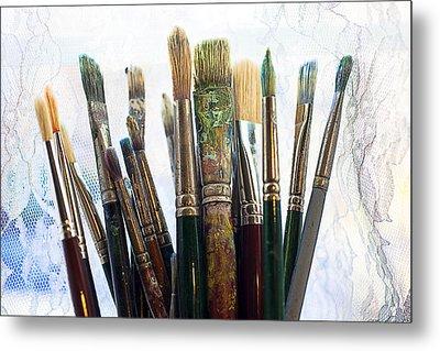 Artist Paintbrushes Metal Print by Garry Gay