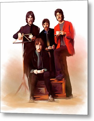 The Beatles Classic Fabs  Metal Print