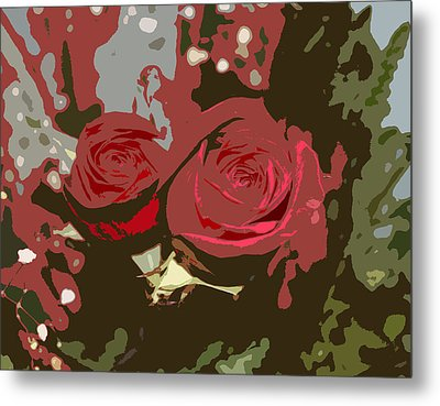 Artistic Roses Metal Print