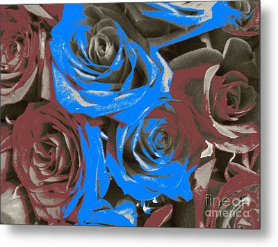 Metal Print featuring the photograph Artistic Roses On Your Wall by Joseph Baril