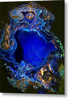 Artists Bisbee Velvet Beauty Azurite Metal Print
