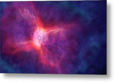 Artwork Of A Bipolar Planetary Nebula Metal Print
