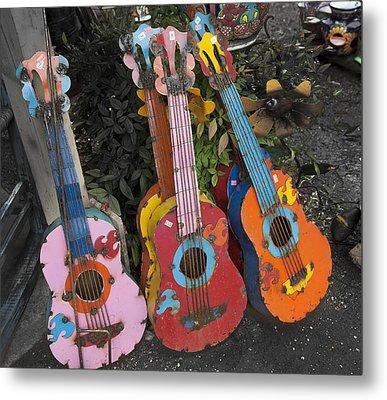 Arty Yard Guitars Metal Print